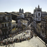 Holiday Festival Pelourinho District Bahia, Salvador, Brazil Photographic Print