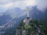 Christ the Redeemer Statue Mount Corcovado Rio de Janeiro, Brazil Impressão fotográfica