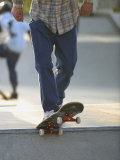 Skateboarder on Ramp Photographic Print