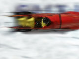 Speeding Bobsled Photographic Print