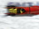 Speeding Bobsled Photographic Print