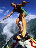 Low Angle View of a Surfer Photographic Print