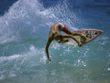 Suntanned Surfer Photographic Print