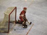 Hockey Goalie Fotografisk tryk