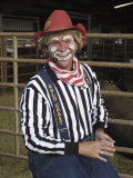 Grinning Rodeo Clown Photographic Print