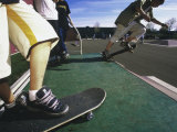 Close-up Image of Skateboarders on a Ramp Photographic Print