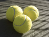 Three Tennis Balls Impresso fotogrfica