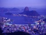 Sugar Loaf Mountain, Guanabara Bay, Rio de Janeiro, Brazil Impressão fotográfica