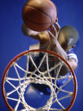High Angle View of Person Shooting Hoops Photographic Print