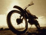Low Angle View of a Dirt Bike Reprodukcja zdjęcia