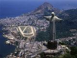 Christ the Redeemer Statue Rio de Janeiro Brazil Reproduction photographique