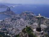 Christ the Redeemer Statue Rio de Janeiro, Brazil Fotografisk tryk