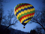 Bright, Colorful Hot Air Ballooon Photographic Print