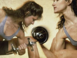 Woman Strength Training Photographic Print