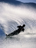 Silhouetted Water Skier Photographic Print