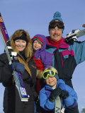 Family of Skiers Photographic Print