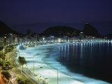 Copacabana Beach Pao de Acucar Rio de Janeiro Brazil Photographic Print