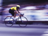 Man Riding a Bicycle Photographic Print