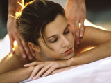 Young Woman Getting a Back Massage Photographic Print