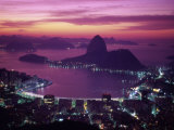 Sugar Loaf Mountain, Guanabara Bay, Rio de Janeiro, Brazil Fotografiskt tryck