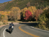 An Autumn Motorcycle Ride Photographic Print