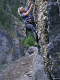 Senior Man Rock Climbing Photographic Print