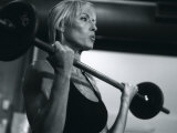Blond Woman Weight Training Photographic Print