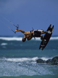 Kitesurfing Photographic Print