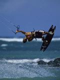 Kitesurfing Photographic Print