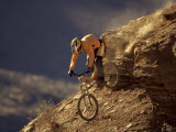 Mountain Biking Downhill Lámina fotográfica
