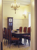Formal Dining Room with Grandfather Clock Photographic Print