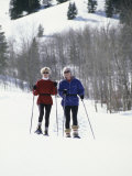 Two Senior Women with Ski Gear Photographic Print