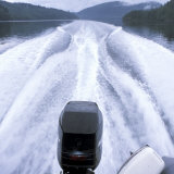 Wake From a Motorboat Photographic Print