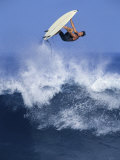 Surfer in Midair Photographic Print