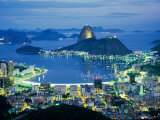 Sugar Loaf Mountain, Rio de Janeiro, Brazil Fotografisk tryk