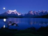 Lake Pehoe, Torres Del Paine National Park, Chile Fotografisk tryk