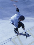 High Angle View of a Young Man Skateboarding Photographic Print