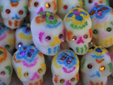 Sugar Skulls are Exchanged Between Friends for Day of the Dead Festivities, Oaxaca, Mexico Photographic Print by Judith Haden