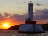 The Sun Sets Over Mackinac Island Photographic Print