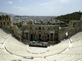 A General View of the Herod Atticus Theater at the Foot of the Acropolis Hill Photographic Print