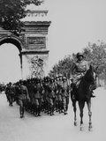 German Occupation Troops March Through the Arc De Triomphe on Champs Elysees Photographic Print