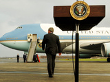 President Bush Walks Back to Air Force One after Speaking to Reporters at Toledo Express Airport Photographic Print
