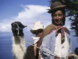 Aymara Indians Isla Del Sol Lake Titicaca, Bolivia Photographic Print