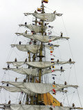Crew Members of the Tall Ship Guayas Fotografie-Druck