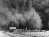 A Peaceful Little Ranch in Boise City, Oklahoma Impressão fotográfica