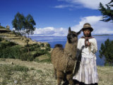 Aymara Indian Isle Del Sol Lake Titicaca, Bolivia Photographic Print