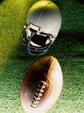 American Football Helmet and a Football Photographic Print