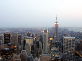 The Empire State Building and the Manhattan Skyline Photographic Print