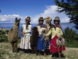 Aymara Indians Isla Del Sol Lake Titicaca, Bolivia Photographic Print