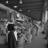Retail Vegetable Markets Line the Decatur Street Side of the French Market Fotografie-Druck
